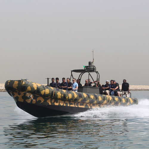 bateau pneumatique hydrojet / RHIB / hard-top / en aluminium