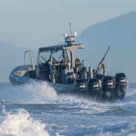 bateau militaire / hors-bord / en aluminium / bateau pneumatique semi-rigide