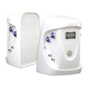 borne de distribution d'eau / avec éclairage intégré / de distribution électrique / pour ponton