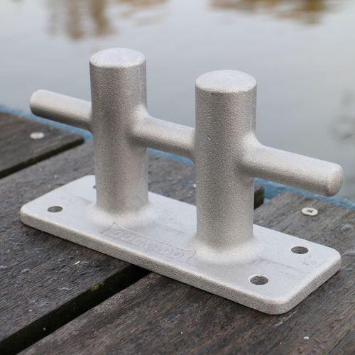 bitte d'amarrage pour ponton / pour bateau / double / en aluminium