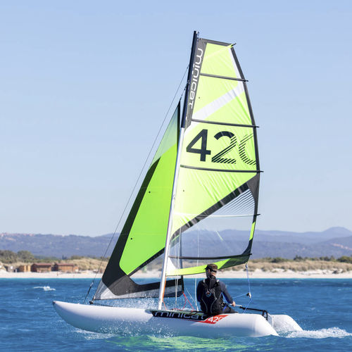 catamaran de sport gonflable / solitaire / multiple / démontable
