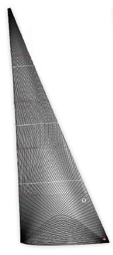 voile d'avant / pour voilier de course / à membrane / en carbone