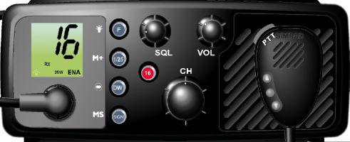 Radio marine / pour navire / VHF SIMRAD® RT64  MI Simulators