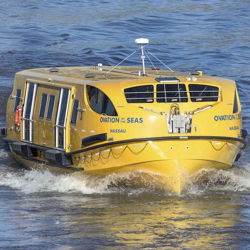 canot de sauvetage partiellement fermé / pour navire