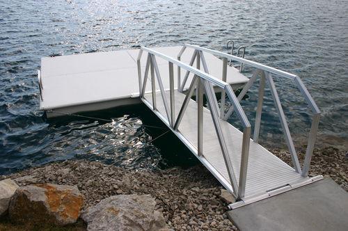 passerelle pour ponton / flottante / avec main courante