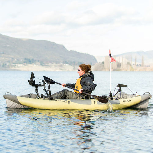 kayak sit-on-top / gonflable / de pêche / monoplace
