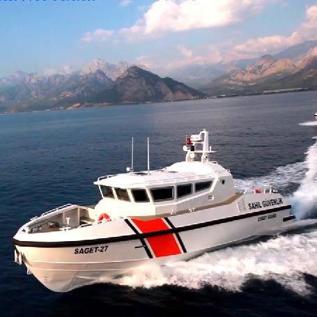 bateau de surveillance / in-bord / en aluminium