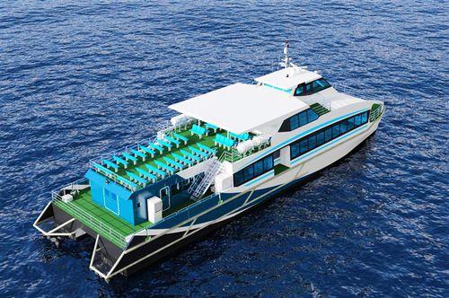 ferry à passagers à grande vitesse / catamaran