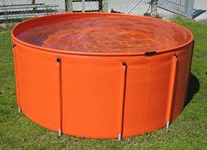 réservoir d'hydrocarbure / de stockage temporaire / avec cadre / portable