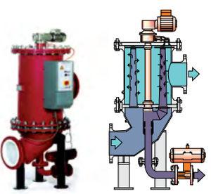 traitement des eaux de ballast / pour navire / avec filtre