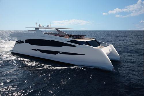 motor-yacht catamaran / de plongée / avec timonerie / semi-custom