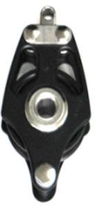 poulie à roulement à billes / simple / à ringot / cordage max. : 16 mm