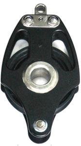 poulie à roulement à billes / simple / à ringot / cordage max. : 22 mm