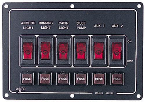 tableau électrique pour bateau / de courant