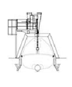 bossoir pour navire / de canot de sauvetage / hydraulique