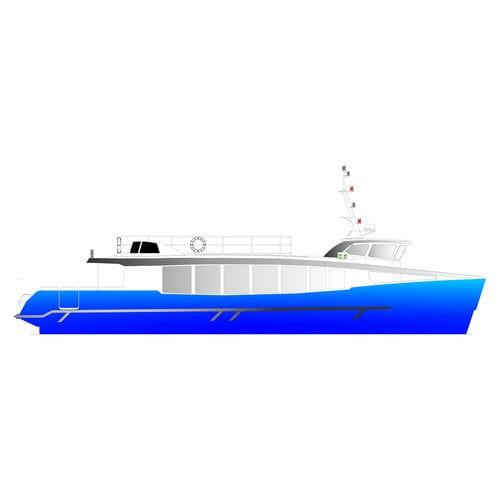 bateau à passagers / in-bord / hybride diesel-électrique / en aluminium