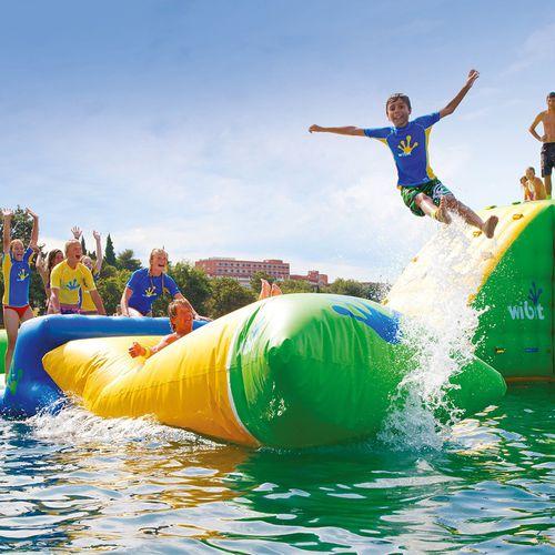 jeu aquatique catapulte / gonflable / flottant