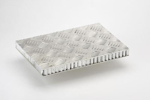 panneau sandwich pour aménagement de navire / pour sol de navire / nid d'abeille en aluminium / aluminium
