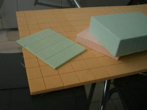 matériau d'âme mousse PVC / rainuré