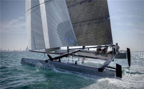 catamaran / de course / à foil