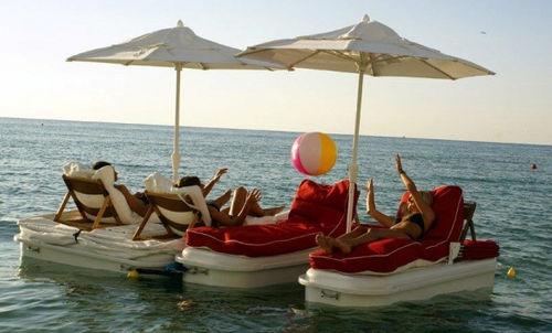 plateforme pour base de loisirs / de baignade / modulable