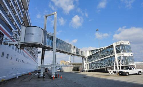 passerelle d'embarquement pour terminal / télescopique / motorisée