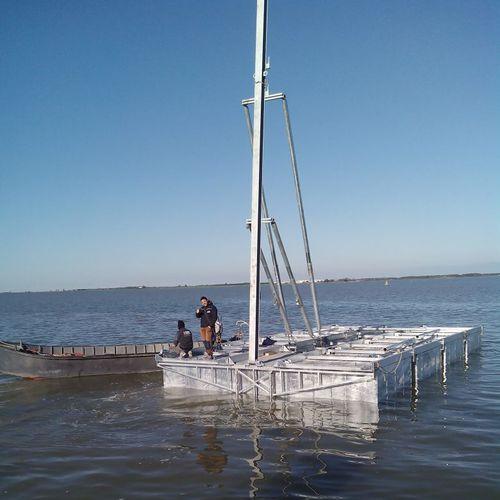plateforme flottante / pour marina / pour base de loisirs / pour le secteur événementiel
