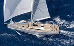 sailing-yacht de croisière / cockpit ouvert / double barre à roue