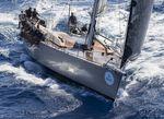 sailing-yacht de course-croisière / cockpit ouvert / double barre à roue