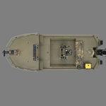 Jon boat hors-bord / à console centrale / de pêche sportive / en aluminium 1860 MVX SPORTSMAN Triton Boats