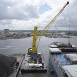 grue portuaire / pour navire grue / de pont / mobile