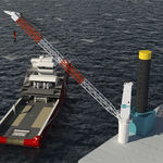 grue pour navire / portuaire / de pont / à flèche relevable