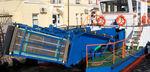 bateau antipollution catamaran / in-bord