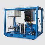 """nettoyeur haute pression pour chantier naval"""" / monté sur chassis / à moteur électrique"""
