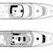 motor-yacht de croisière / raised pilothouse / coque à déplacement