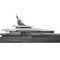 mega-yacht de croisière / raised pilothouse / en acier