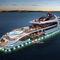 mega-yacht de croisière / raised pilothouse / en acier / avec piscine