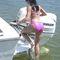 échelle pour bateau / relevable / de baignade / manuelle