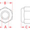 écrou hexagonal / en nylon / en inox