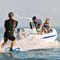 bateau pneumatique semi-rigide am�nag� (hors-bord, � console lat�rale, roll-bar) G480L GRAND Inflatable Boats