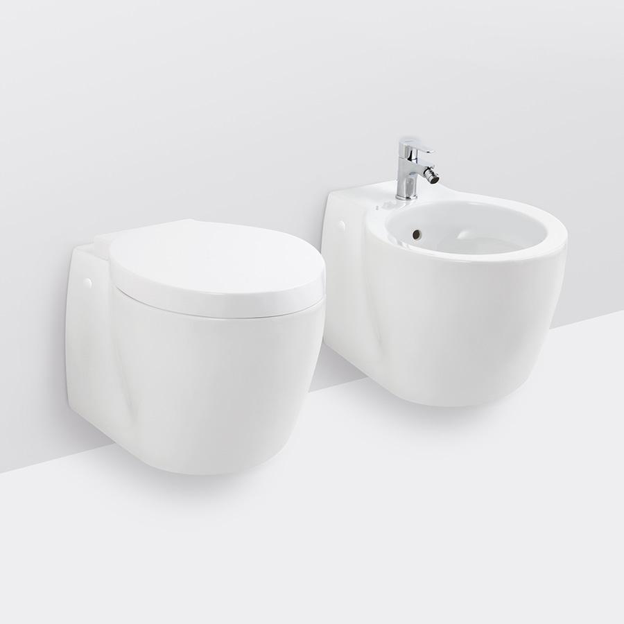 Une conception lisse mise à jour pour la toilette et le bidet fixés ...