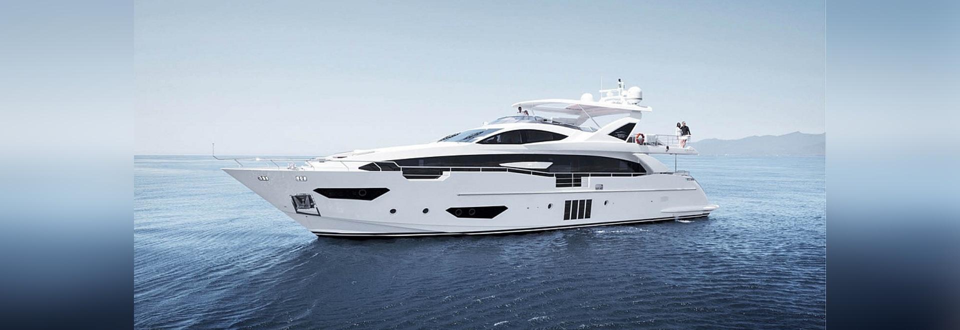 L'Azimut fait de la navigation de plaisance grand 95RPH, le plus cher à MIBS (la courtoisie des yachts d'Azimut)