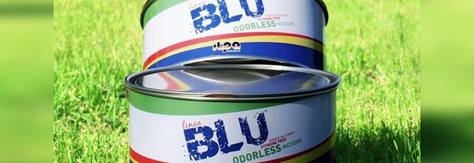 BLEU est un mastic qui respecte l'environnement et sans styrène de bateau (courtoisie d'Ilpa Adesivi)