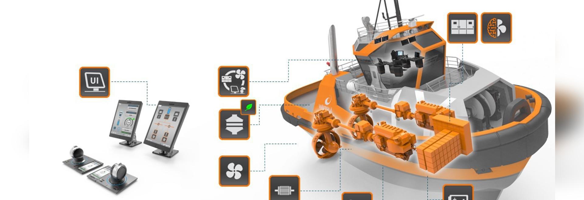 Installation hybride de développement de module d'alimentation du HY de Wärtsilä en plein rendement