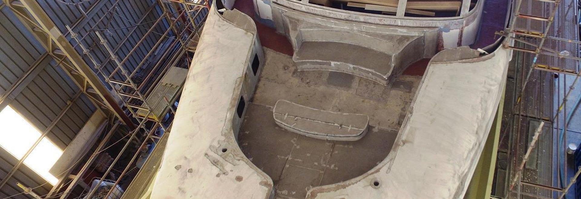 Mise à jour de construction sur le yacht Xana de moteur de Codecasa