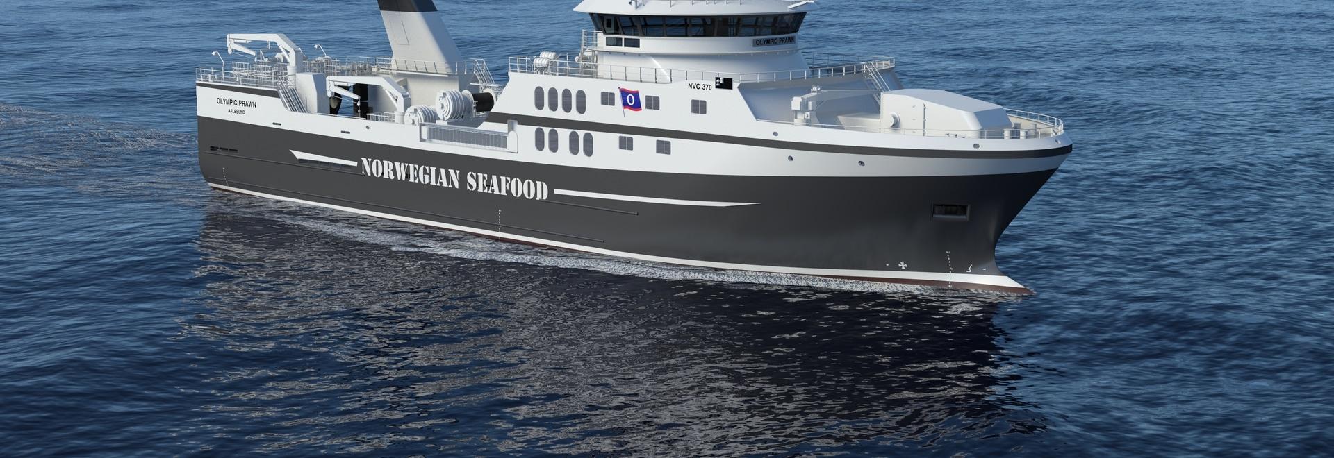 Nouveau navire de chalutier à équiper du système de propulsion hybride de Rolls Royce
