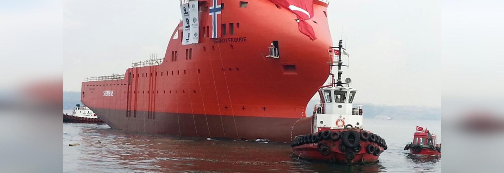 NOUVEAU : navire en mer de soutien par Cemre Shipyard