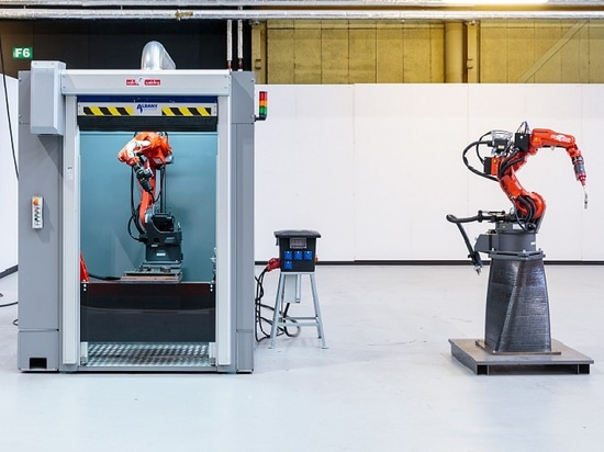 Le port des imprimantes en métal du 3D de Rotterdam (courtoisie de RAMLAB)