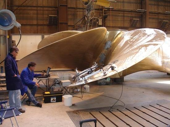 3D a imprimé le propulseur de bateau (la courtoisie de Builbytes)