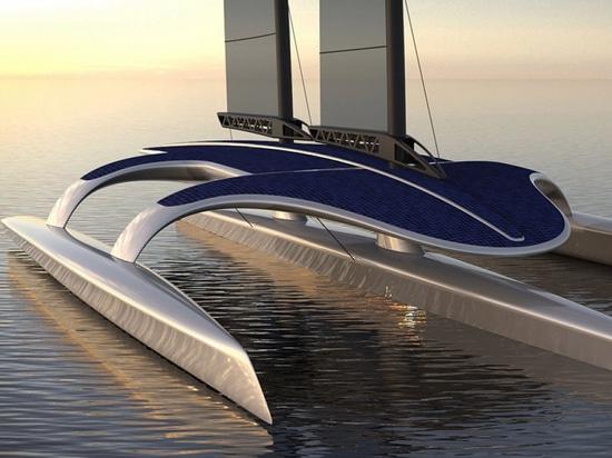 Le bateau autonome de recherches de fleur printanière (courtoisie de conception de Shuttleworth)